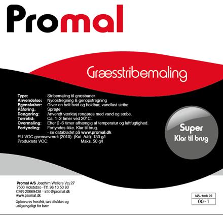 Græsstribemaling - Super Brugsklar - 10 ltr