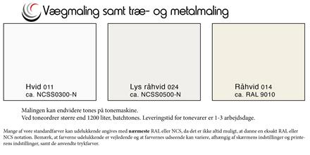 Væg & Facademaling 40, hvid, 10 liter