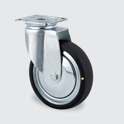 Drejeligt ESD hjul m. plade, 75 mm