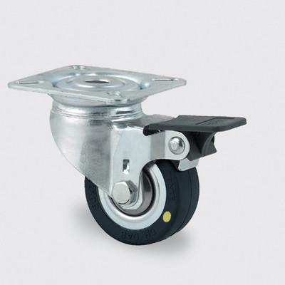 Drejeligt ESD hjul, 50 mm, med bremse