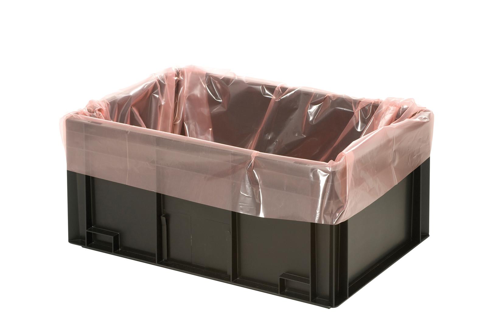 PERMASTAT® sidefold pose til 400 x 300mm lagerkasser, 500 stk.