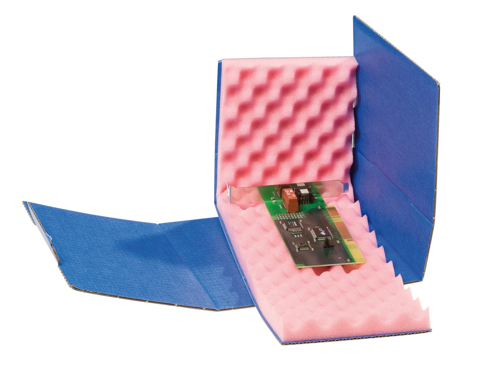 Safeshield® forsendelsesæsker, med dissipativ skum, 10 stk.