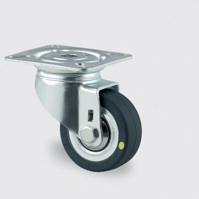 Drejeligt ESD hjul med plade, 50 mm