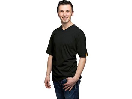 Dame- og Herre T-Shirts med V-hals