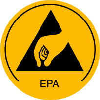EPA skilt Ø 10 mm, 250 stk.