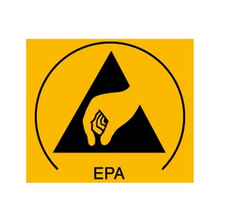 EPA skilt 30 x 25 mm, 50 stk.