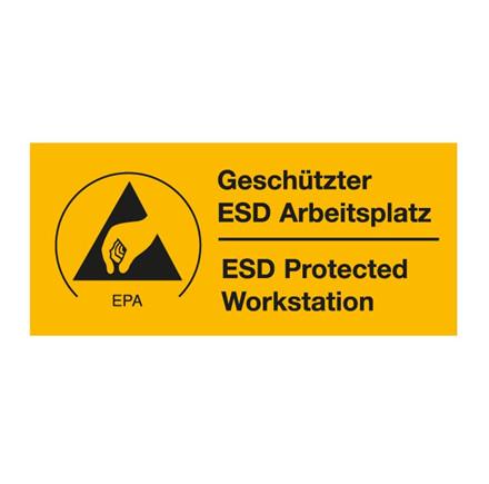 EPA arbejdspladsskilt 40 x 90 mm, 100 stk.