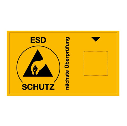 ESD kontrolmærkat, 30 stk - Tysk