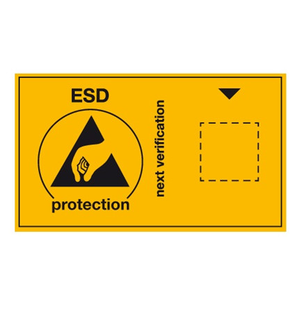 ESD kontrolmærkat, 30 stk - Engelsk
