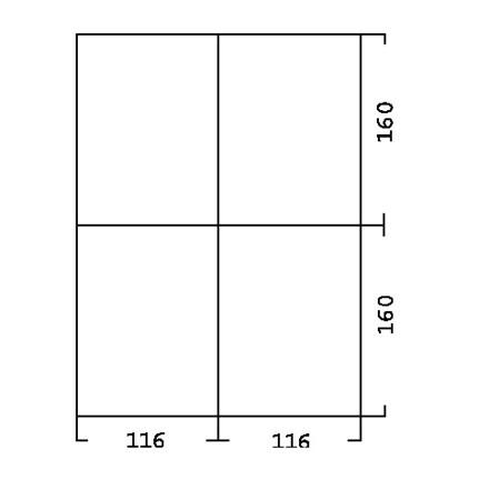 Skuffeinddeling til Skuffereol type 815