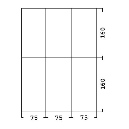Skuffeinddeling til Skuffereol type 831