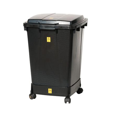 Ledende affaldsbeholder 90 liter, komplet