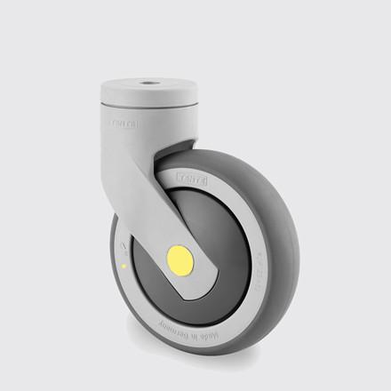 Drejeligt ESD-hjul, kunststof, 100 mm