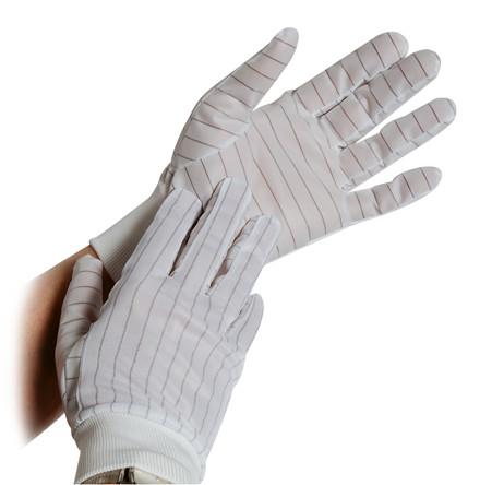 Polyesterhandske med ribkant, statisk dissipativ med PU-belægning, 10 par