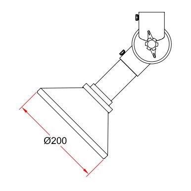 Alsident sugeskærm, metal, <br/>System 50, antistatisk