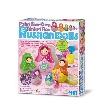 4M Creative Craft-Paint Your Own Trinket Box - Russians Dolls