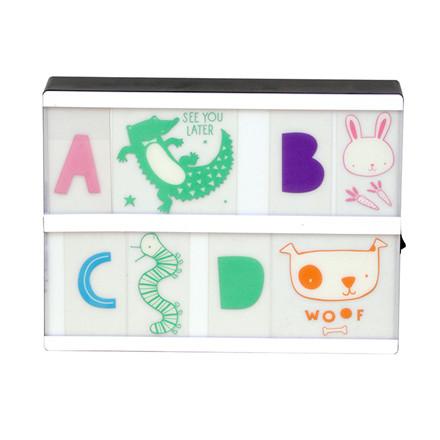 A Little Lovely Company Lightbox letter set: ABC pastel