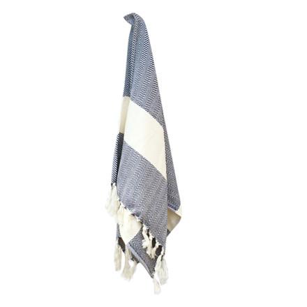Algan Balik Gæstehåndklæde Navy