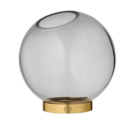 AYTM Globe Rund Glas Vase Grå Mellem