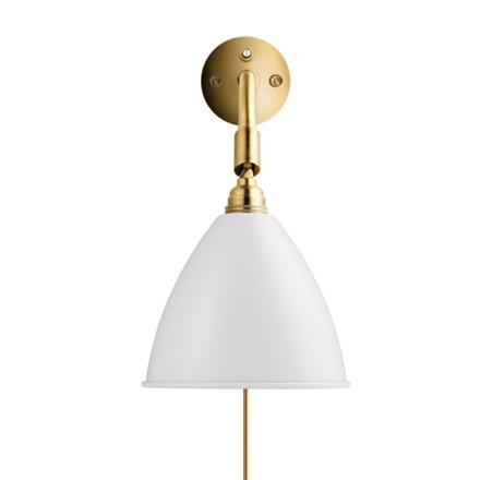 BL7 Bestlite Wall Lamp Mat Hvid Messing