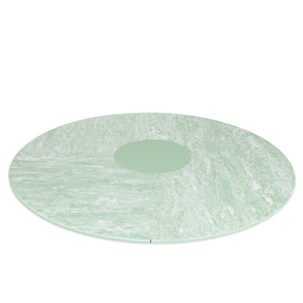 Bobles Tumlegulv Rundt i marmor grøn
