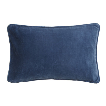 Bungalow Velvet Pude China Blue