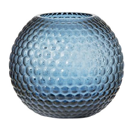 Bungalow Round Diamond Vase H16 cm. Blå