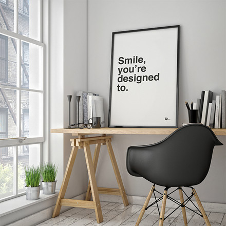 By Krohn plakat Smile, you're designed to