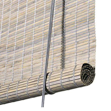 Color & Co Gråt bambus rullegardin
