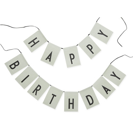 Design Letters Flagranke Happy Birthday Grøn