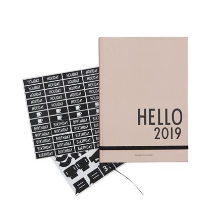 Design Letters Kalender 2019 Nude