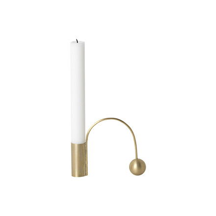 Ferm Living Balance Lysestage Messing