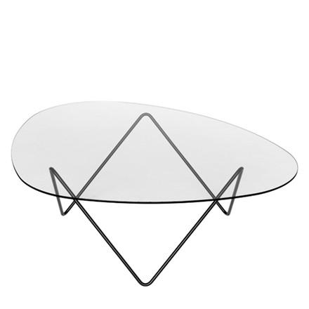 Gubi Lounge Table Pedrera Sortlakeret Stål