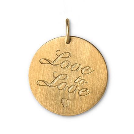 Jane Kønig Lovetag Love to Love Forgyldt