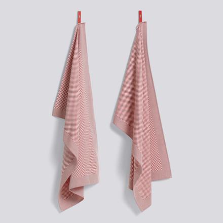 HAY Tea Towel Check Viskestykker Pink