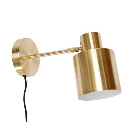 Hübsch Væglampe Messing
