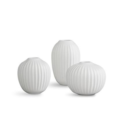Kähler Hammershøi Vase Miniature 3-Pak Hvid