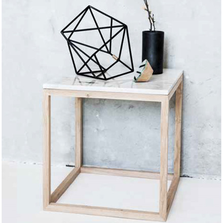 Kristina Dam The Cube Bord Hvid Marmor