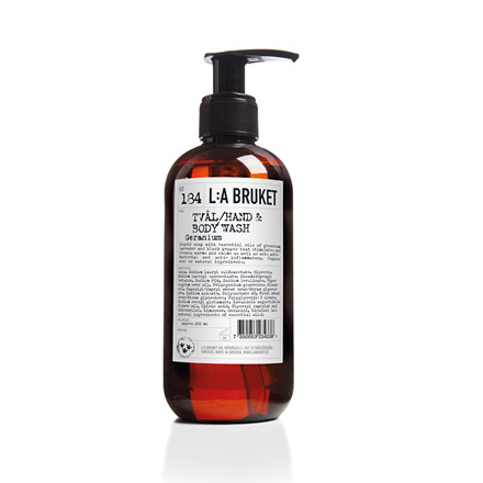 La Bruket Hand- body wash, Geranium 250 ml