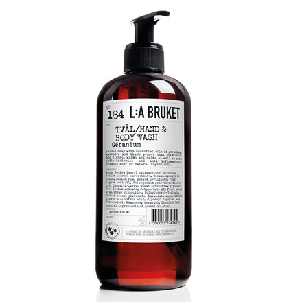 La Bruket Hand- body wash, Geranium, 450 ml