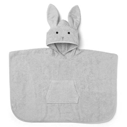 Liewood Håndklæde Poncho Kanin Grå