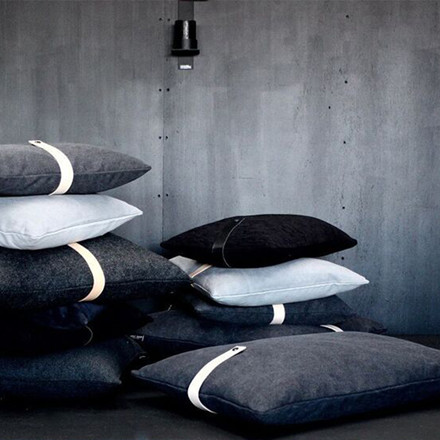 Louise Smærup Black Canvas Cushion 40x60