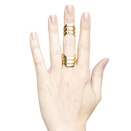 Maria Black Ring Triad HP Guld