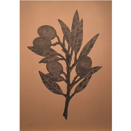 Monika Petersen Kunstprint Olive Branch Terracotta 50x70