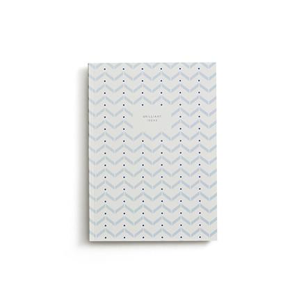 Kartotek Lille Notesbog Lyseblå