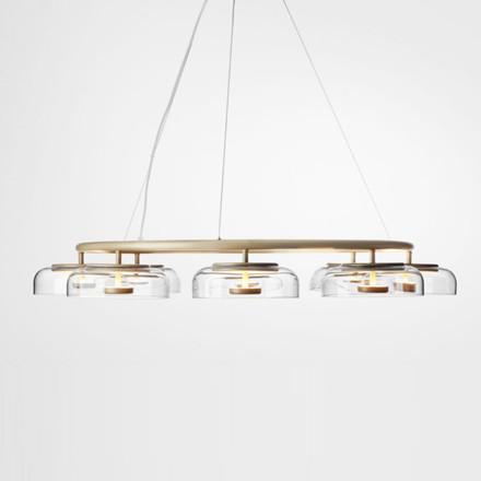 Nuura Blossi 8 Pendel Nordic Gold/Clear