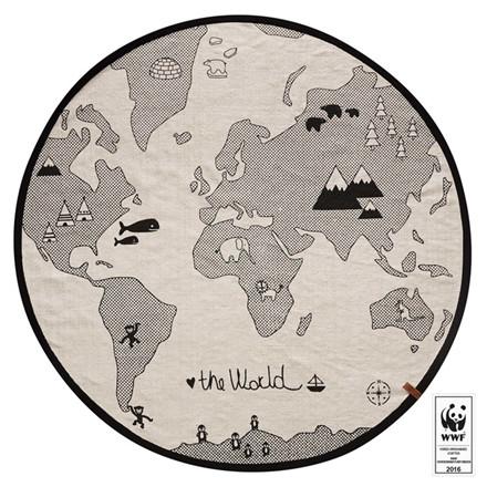 OYOY Tæppe Verdenskort