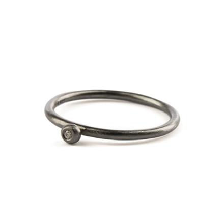 Pernille Corydon Petite Ring Ruthenium