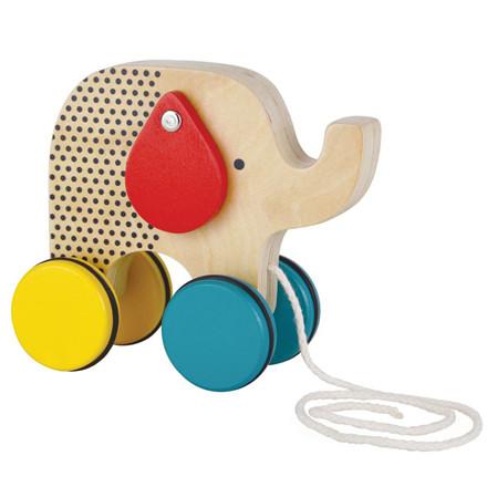 Petit Collage Træklegetøj Hoppende Jumbo Elefant
