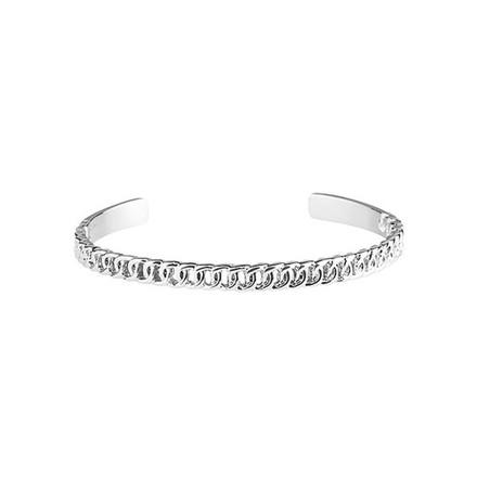 Plissé Copenhagen Chain Bangle Armbånd Sølv